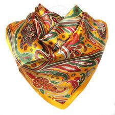 Foulard 100%  Soie  Jaune orangé   - scarf shawl silk seide