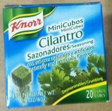 KNORR CILANTRO SEASONING MINI CUBES. 3 BOXES, EACH WITH 20 MINI-CUBES