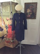 Oleg Cassini Vintage  Silk Blue Suit