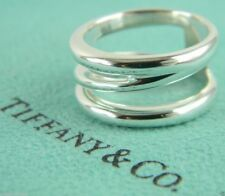 Tiffany & Co. Sterling Silver Size 5 Wide Diagonal Band Ring
