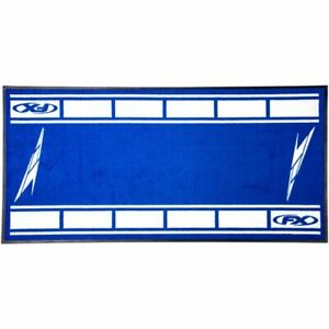 Factory Effex - Stain And Mildew Resistant Rubber Edged Blue Strobe Bike Mats