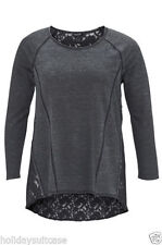 Cotton Blend Long Sleeve Stretch Tops for Women