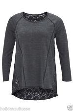 Langarm Damenblusen, - tops & -shirts aus Baumwollmischung in Größe 52