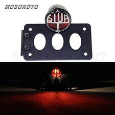 Motorcycle Side Mount Tail Brake Light License Plate Bracket  For Harley Black