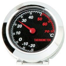 Negro Y Cromado en coche (-20 / +70) Temperatura de medición Termómetro Medidor Dial