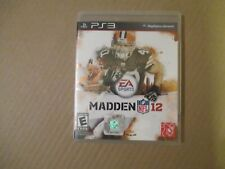 PS3 Madden NFL 12 game
