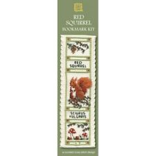 Red Squirrel Bookmark Counted Cross Stitch Kit by Textile Heritage