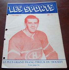 Les Sports  November 1952 Maurice Richard Montreal Canadians