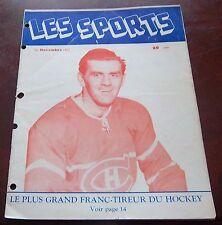 Les Sports  November 1952 Maurice Richard Montreal Canadians