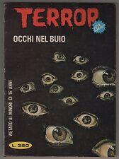 TERROR BLU N.43 OCCHI NEL BUIO edizioni EP ediperiodici 1978 francesco blanc