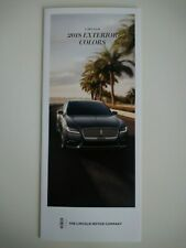 LINCOLN Continental MKC MKT MKX MKZ Navigator Paint Colors Colours Brochure 2018