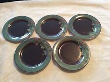 5 x Cueillette Gien Side Plates  Vintage - 1990s - France 17cm