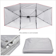 4*2.1M Car Tent Umbrella Cloth Navy Blue Oxford Waterproof Sun Shadow Parasol