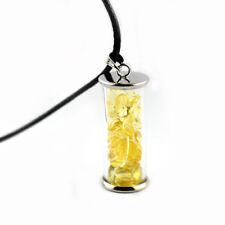Glow In The Dark Wishing Bottle Luminous Stone Pendant Necklace Gift Fashion