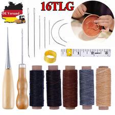 48 Tlg Leder Handwerk Werkzeug Leather Craft Sewing Stitching Groover Kit Set OL