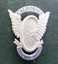 "OBSOLETE CALIFORNIA HIGHWAY PATROL Badge ""Flying wheels"" replica silvercolor"