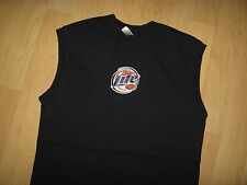 Miller Lite Tank Top - Beer Logo Embroidered Patch Pub Lounge Muscle T Shirt Sm