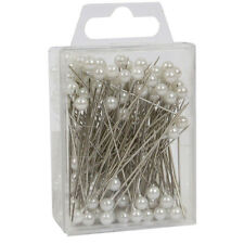 "Pearl head pins Large White florists corsage buttonhole 2.5"" Box of 144"