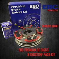NEW EBC 259mm REAR BRAKE DISCS AND REDSTUFF PADS KIT OE QUALITY - PD02KR293
