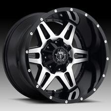 20x12 TIS 538 Wheels Black Rims Fit Lifted 6 lug Chevy Silverado GMC Ford F150