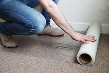 "Carpet Floor Protector Self Adhesive Plastic Protection Film 36"" X 200' Roll"