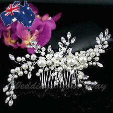 SALE Vintage Style Bridal Hair Comb Rhinestone Crystal Pearl Wedding Formal HC-3