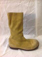 Girls Mini Boden Beige Suede Boots Size 32