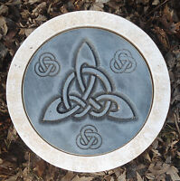 """Gothic stepping stone mold Pagan Wicca Celtic casting plaster concrete mould 10"""""""
