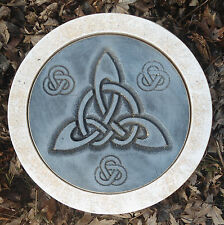Gothic stepping stone mold Pagan Wicca Celtic casting plaster concrete mould 10""