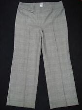 CHICO'S 3 (= Size 16) Glimmer Plaid Pant Metallic Sparkle Work Trouser Career