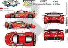 """[FFSMC Productions] Decals 1/24 Ferrari F-458GT """"Risi"""" 12 Hours of Sebring 2011"""