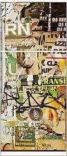 Sticker frigo électroménager déco cuisine Tag Graffiti 70x170cm réf 548