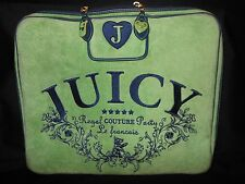 JUICY COUTURE Regal Green/Navy Velour Laptop Case