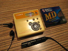 Sony n505 GIALLO Minidisc MD con accesso USB + Remote (494) Long Play