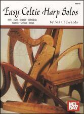 Easy Celtic Harp Solos Sheet Music Book Irish Bretton Cornish Scottish Welsh