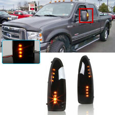 For 2003-2007 F250 F350 F450 F550 Super Duty Smoked LED Amber Side Mirror Lights(Fits: Ford)