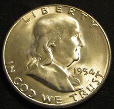 1954-S San Francisco Mint Franklin Silver Half Dollar AN11