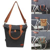 Tourbon Bike Rear Rack Pack Bicycle Panniers Saddle Bag Messenger Bag Canvas USA