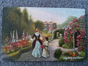 Commercial Series No 311, Sunshine and Flowers. Victorian Garden. JWB
