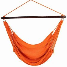 "Portable HAMMOCK Hanging CHAIR CARIBBEAN 55"" Porch Patio Swing ORANGE Polyester"