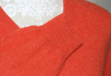 100% CASHMERE S/10/12 UNIQLO HEAVENLY SOFTEST KNIT BURNT ORANGE GORGEOUS JUMPER