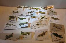 Collection Of 22 Vintage Airplanes Mounted on Cards