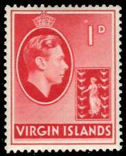 "VIRGIN ISLANDS 77i (SG111) - King George VI ""1938 Chalky Paper"" (pb11461)"