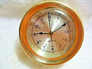 Vintage Collectible SETH THOMAS Brass PORT HOLE Design Clock-Nautical-Boat-Water