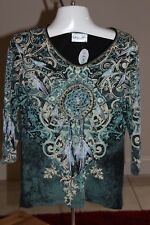 Misses Cactus Bay DreamCatcher Top Small S NEW with tags