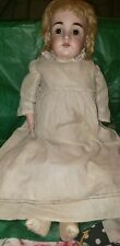 Antique German Bisque Doll 21 Inches Tall sleepy eyes