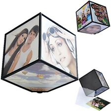 Nice Gift 360 Rerating Revoling Photo Multi Picture Cube Frames Home Room Decor