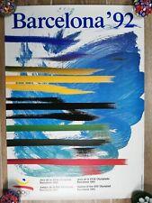 Affiche Jeux Olympiques Barcelone 1992 Barcelona Espagne JO Original Vintage
