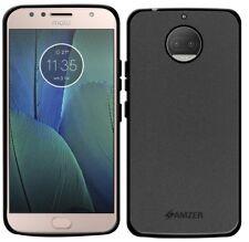 AMZER Pudding Matte TPU Case Skin Back Cover For Motorola Moto G5s Plus - Black