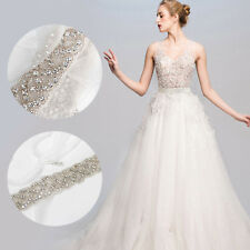 Crystal Bridal Belt Wedding Diamante Trim Dress Sash Beaded Waistband X 2